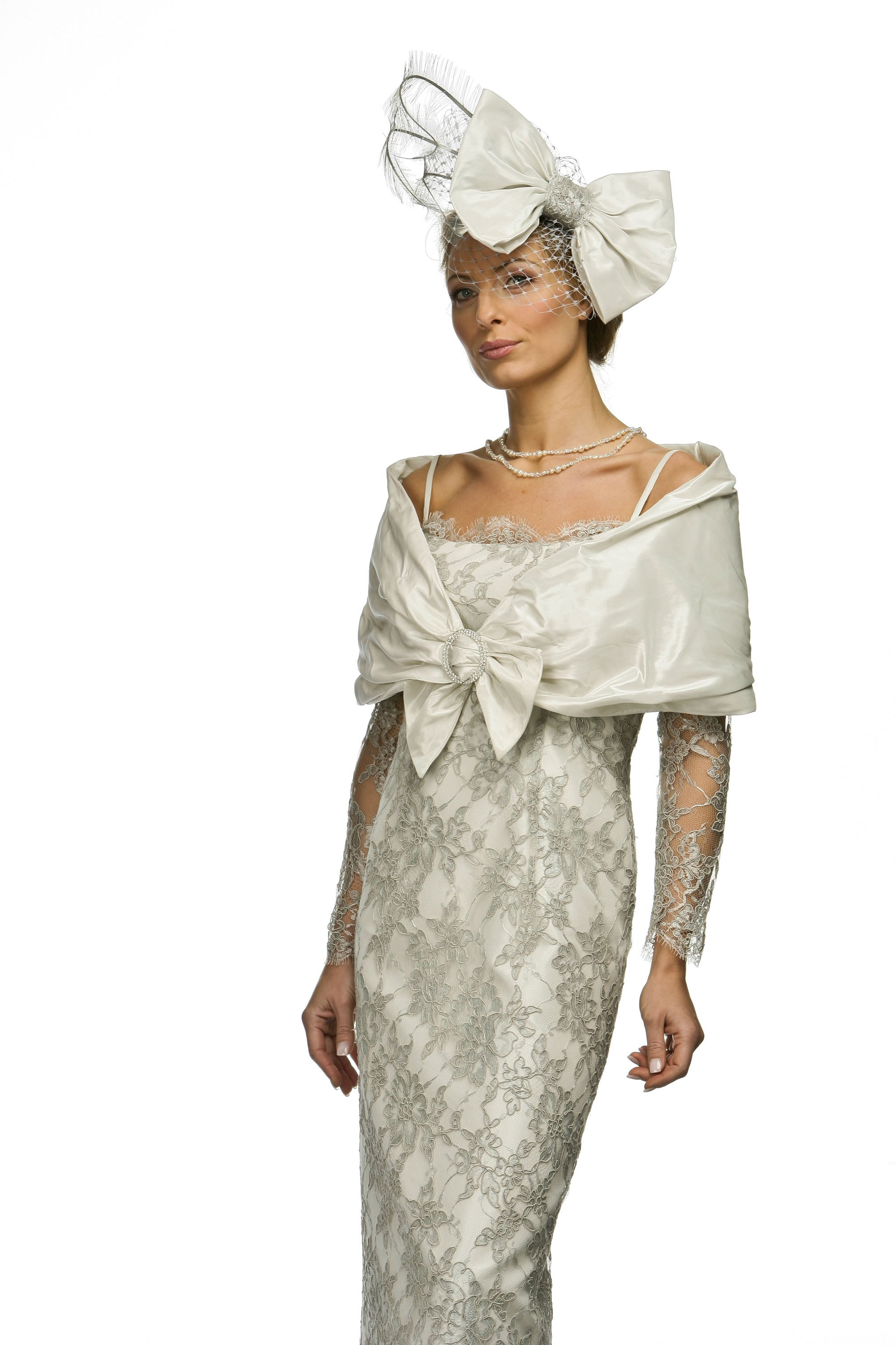 Vintage lace dress and stole