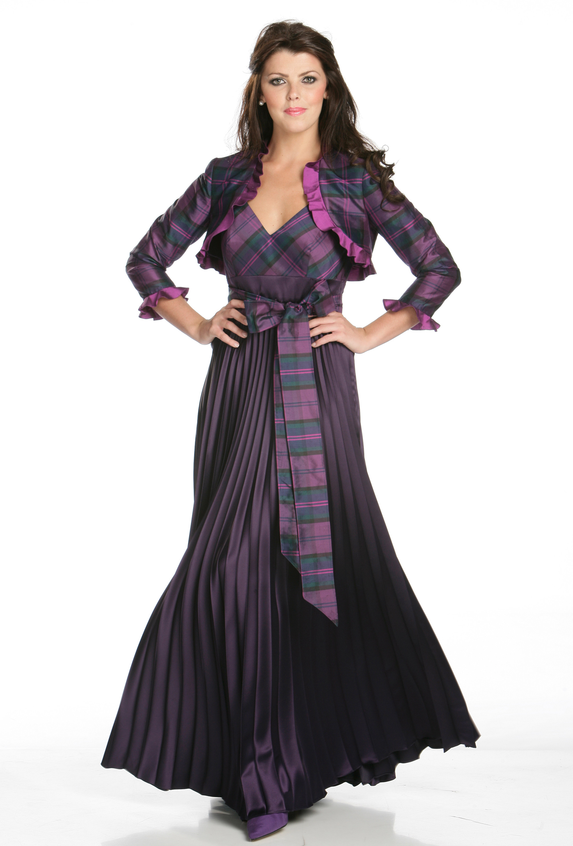 Heather joyce young for Scottish wedding dresses with tartan