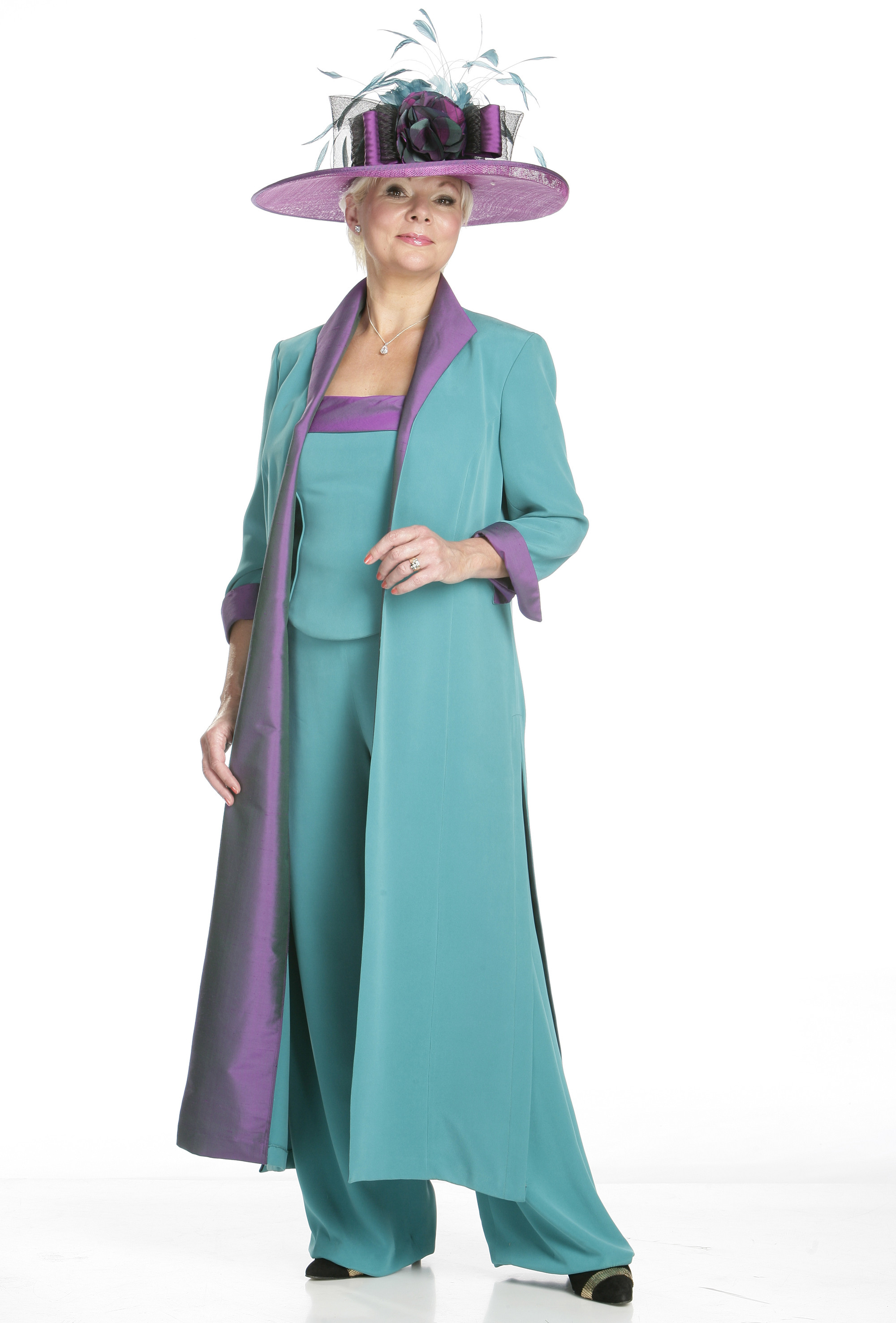 3 piece Silk Coat,Bodice and Trousers | Joyce Young