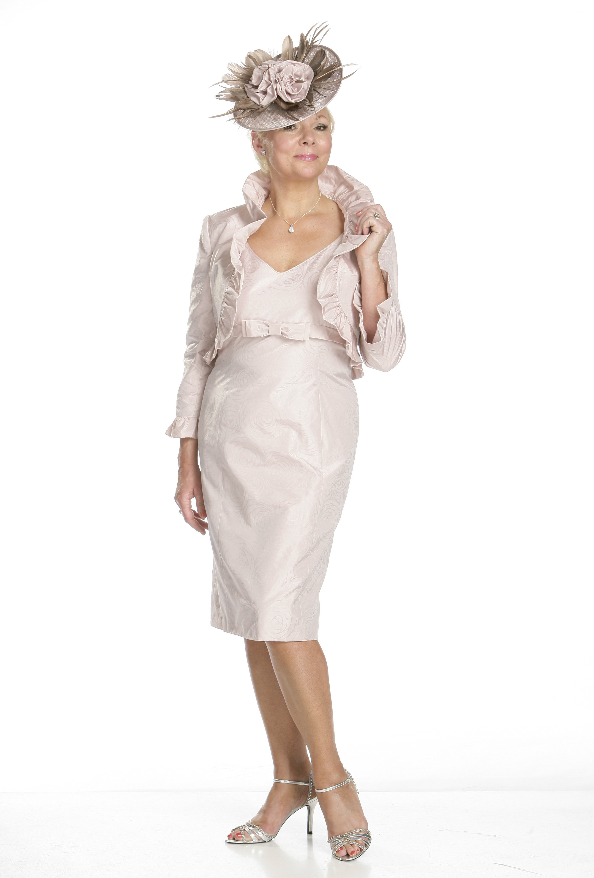 Silk Taffeta Dress and Jacket