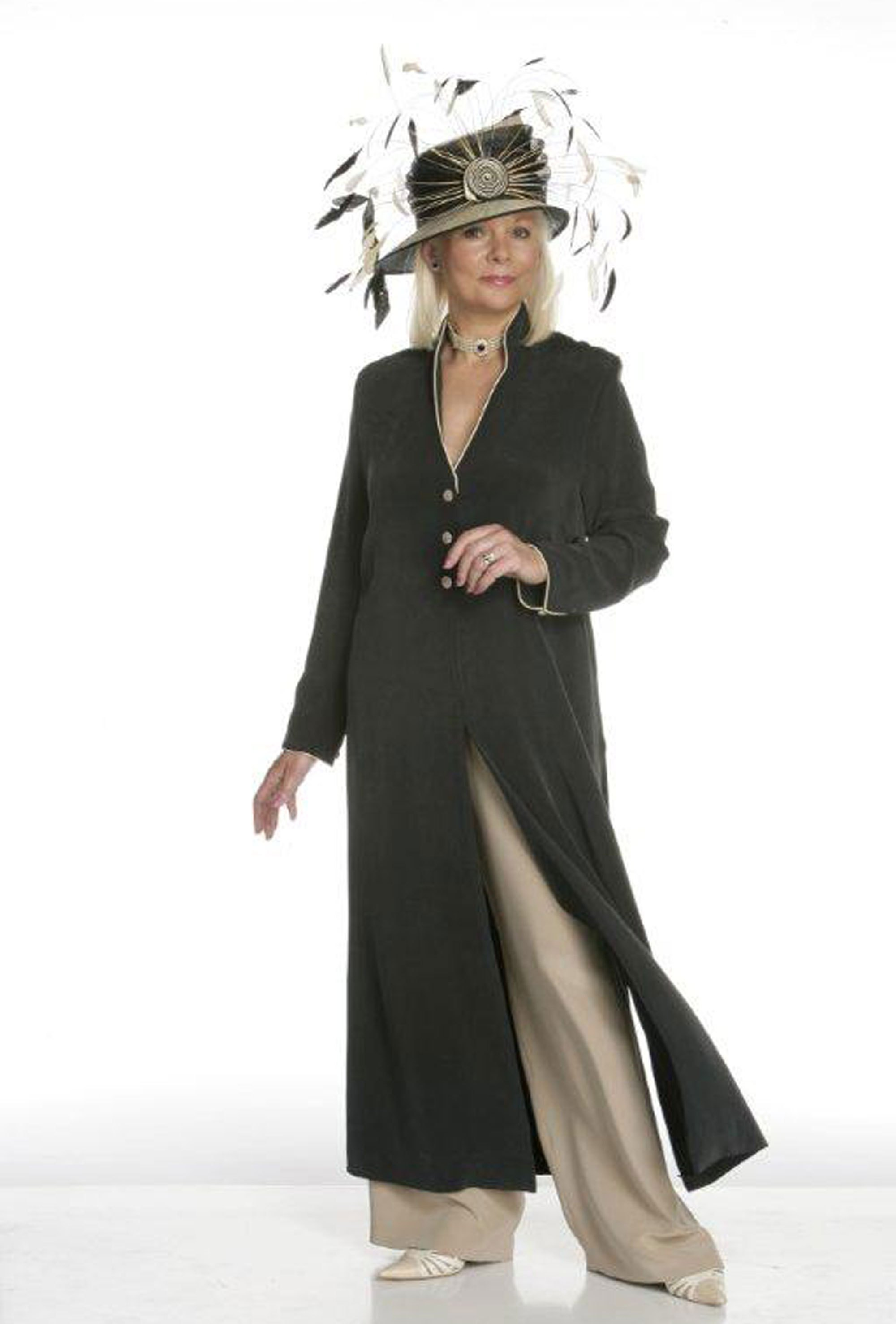 Silk Coat And Trouser Combo From Joyce Young Collections