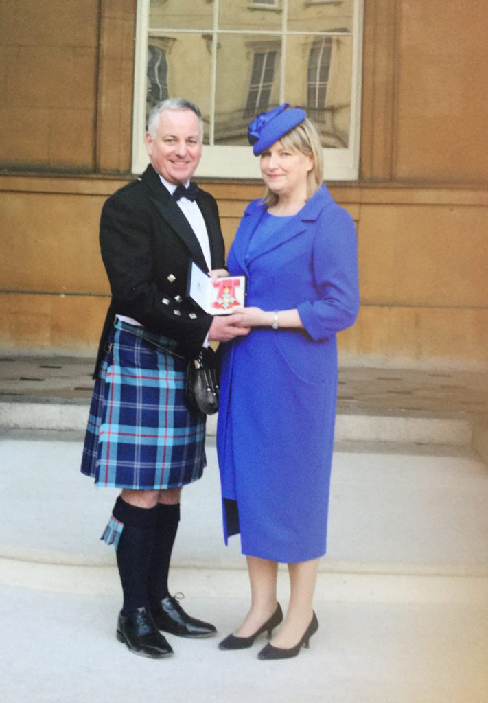 Jack and Bridget McConnell at Buckingham Palace