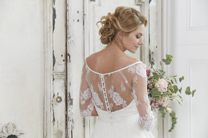 Chantilly lace full gown