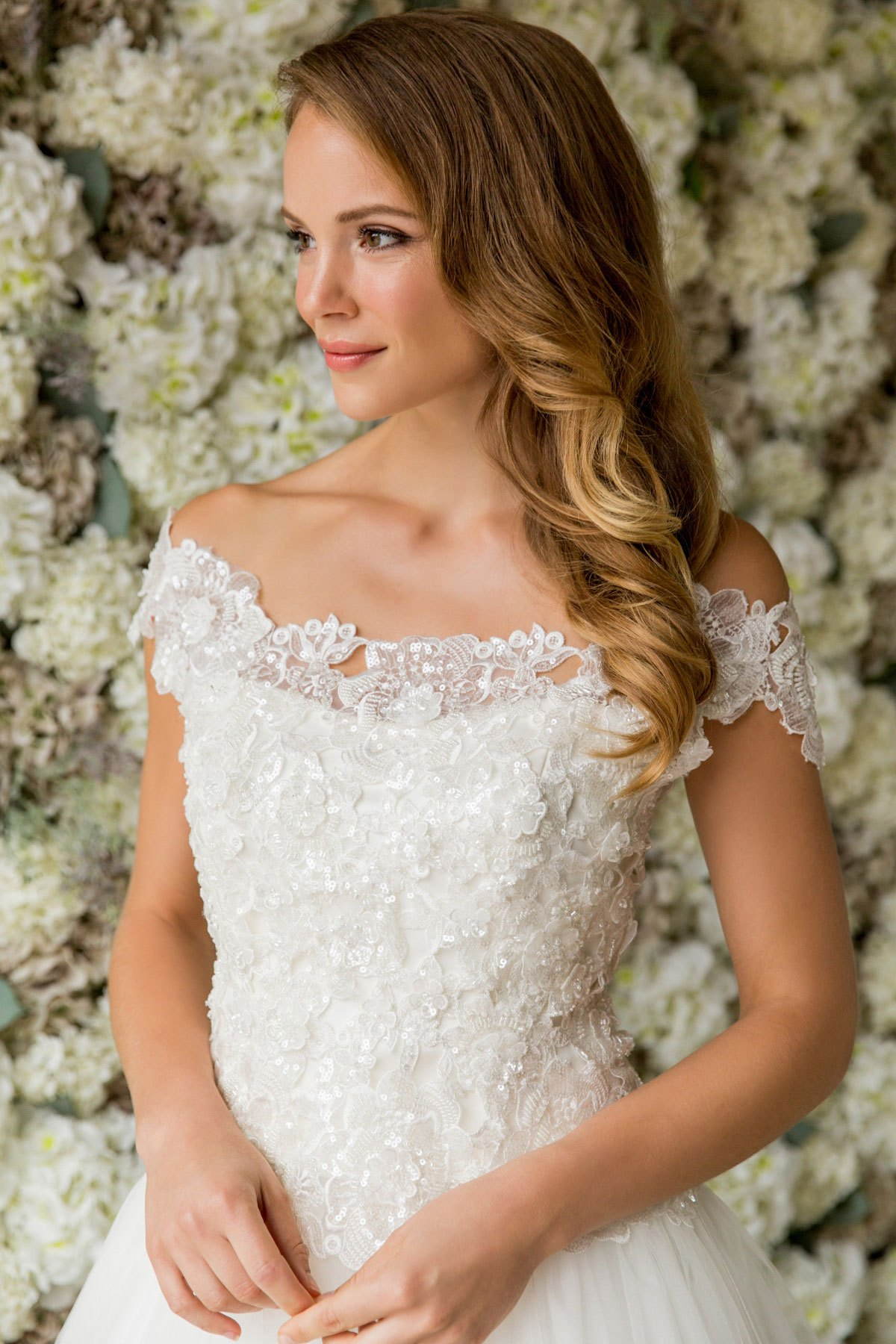 3D Beaded Lace Flower Top