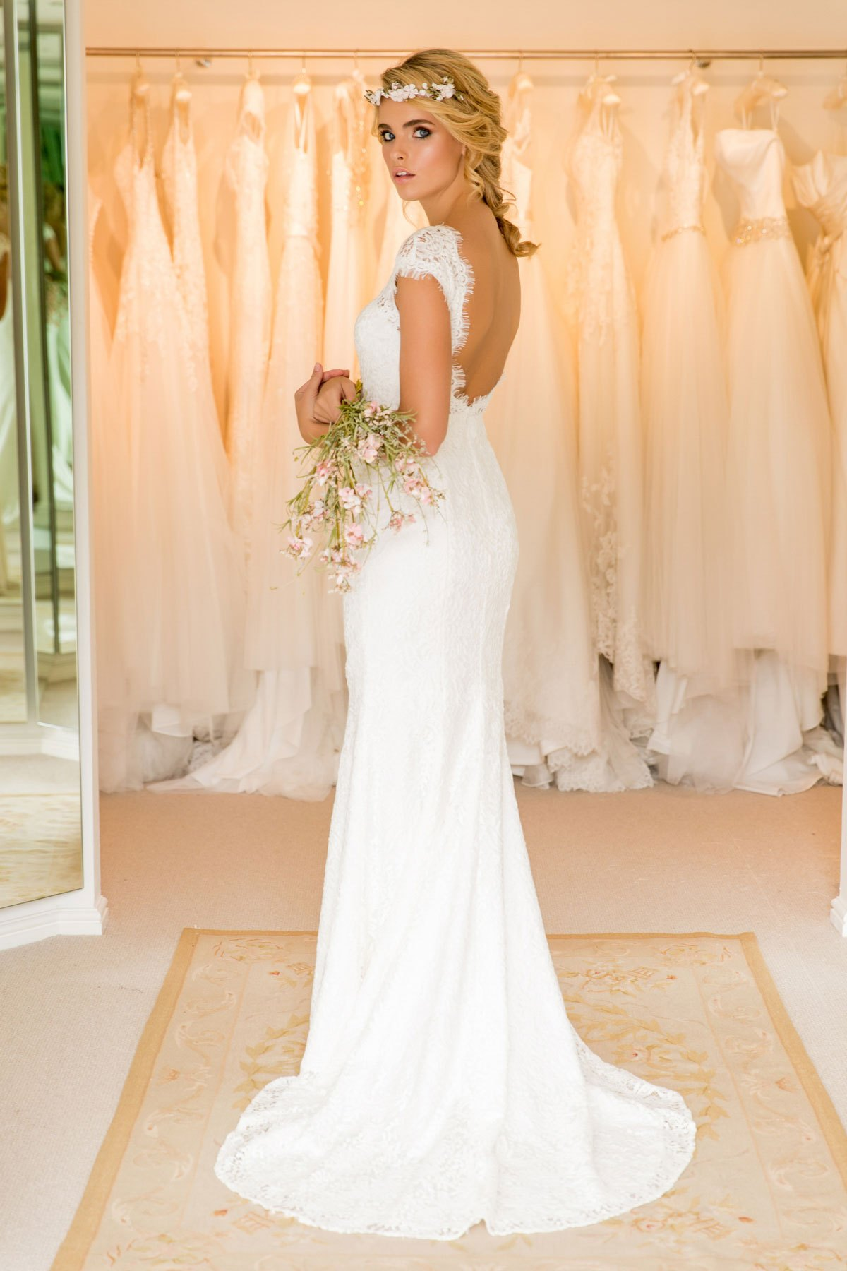 Roxanne Cotton Lace Wedding Dress