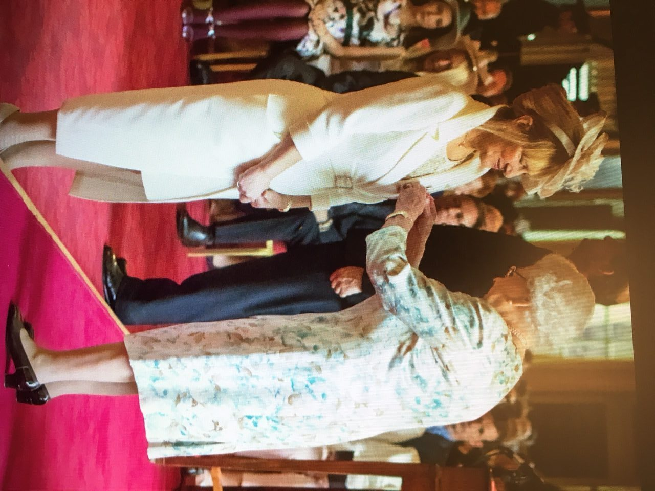 Marlene Shiels receives her OBE from the Queen at Holyrood