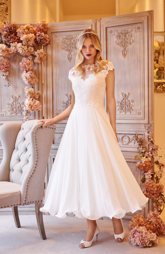 Olga ankle length wedding dress