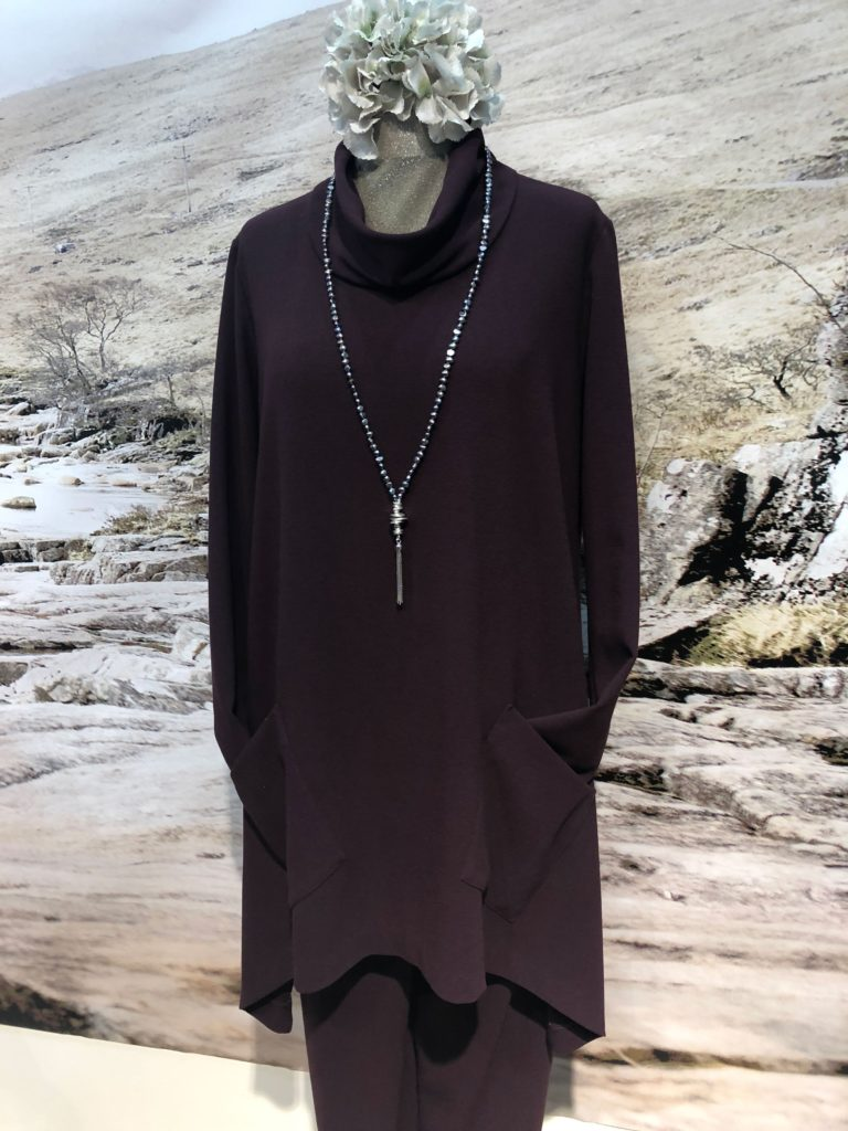 Artist style tunic with straight leg trouser