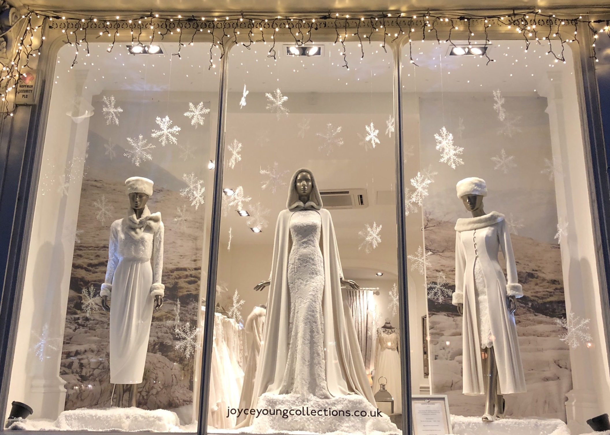 2018 Christmas window at Joyce Young London