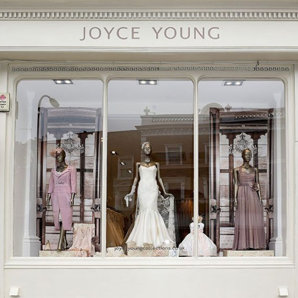 Joyce Young OBE, Luxury Bridal and Special Occasion Wear Designer based in Glasgow and London