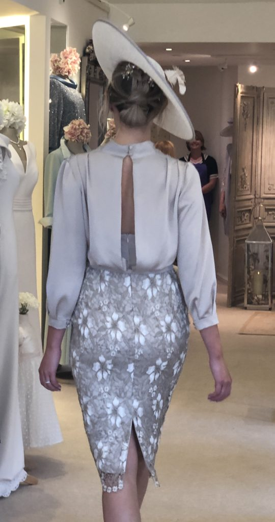 Back view of our super elegant couture dress