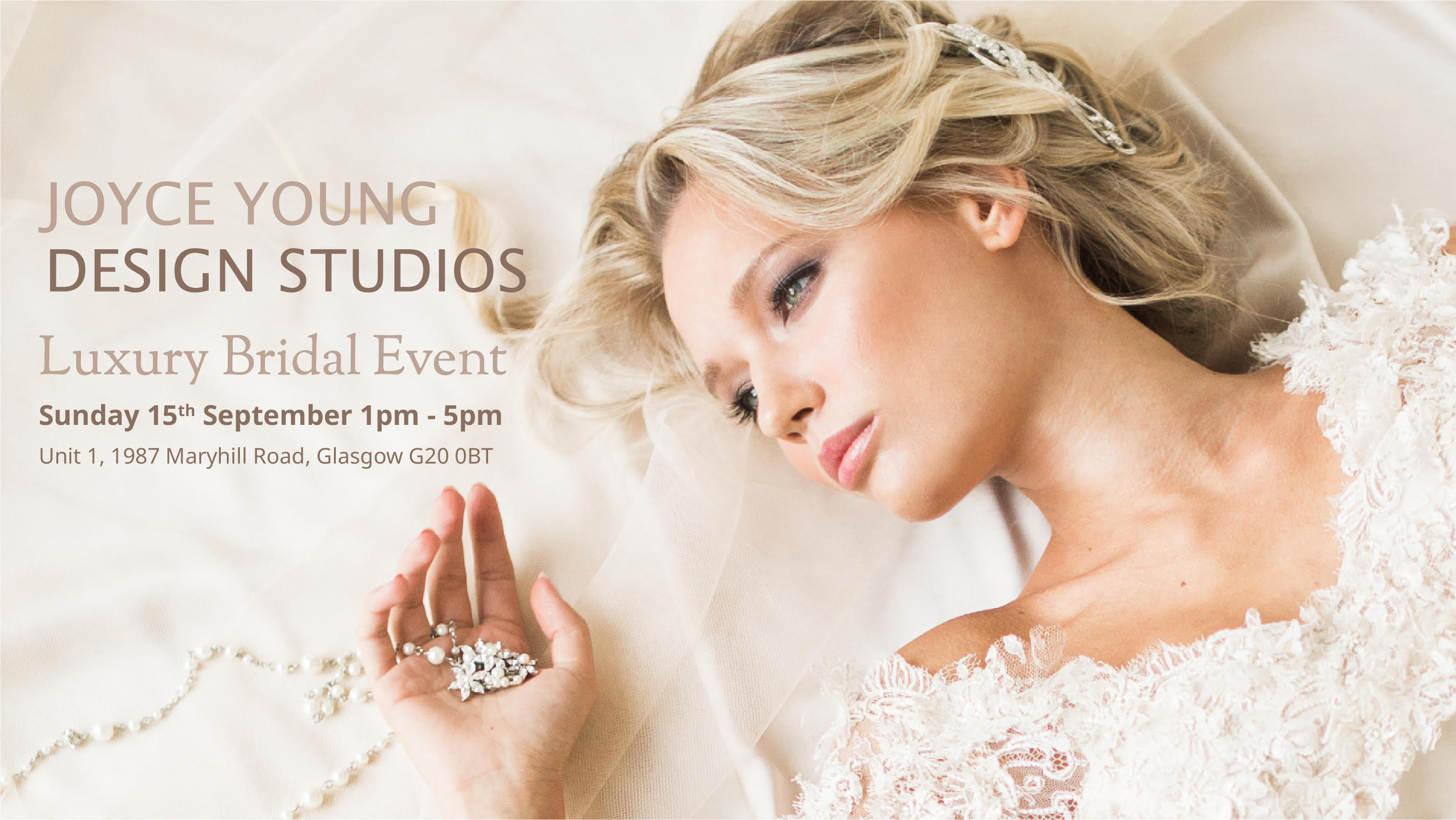 Bridal Event in our Glasgow Showroom on the 15th of September 2019