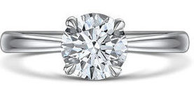 ROX Classic round solitaire ring