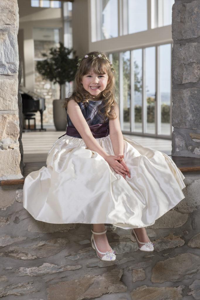 perfect wedding dress a match made in tartan