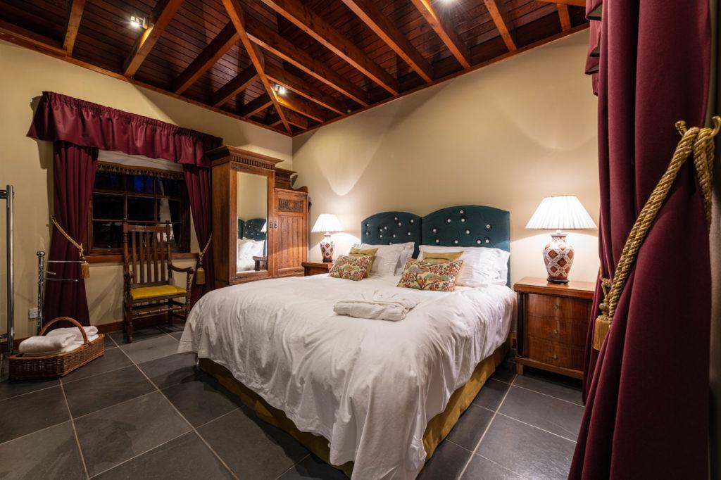 stunning bedroom in cloncaird lodge