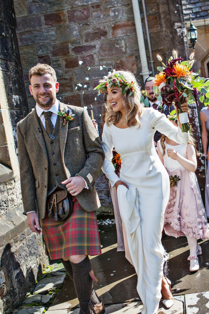 Carli wedding photos, couture wedding dress, brides in quarantine
