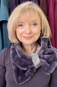 Amethyst Faux Fur with Tweed